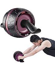 Buikoefenroller, Fitness Ab Roller Automatische Rebound Buikwiel, Verwijderbare Mute, Multi Hoek Core Training, Thuis Gym Sportuitrusting voor Mannen Vrouwen Beginner Professionals