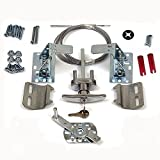 Best Cables With Lock Latches - Secure Universal Garage Door Lock Kit w/ Spring Review