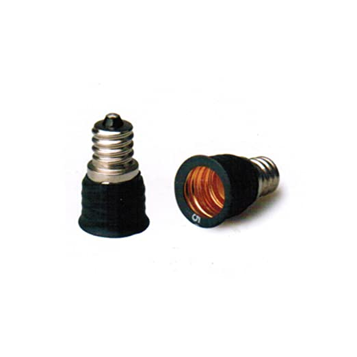 Adaptador de casquillo E12 a E14, extensible, bombilla LED, casquillo Edison, rosca
