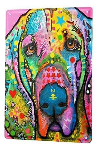 LEotiE SINCE 2004 Tin Sign Metal Plate Decorative Sign Home Decor Plaques Breed Great Dane