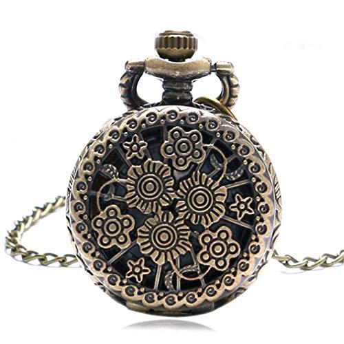 Hollow Flower Quartz Pocket Watch Retro Elegant Dress Casual Ladies Fob Watches Women With Necklace Reloj De Bolsillo Gifts 7 from Lseetime