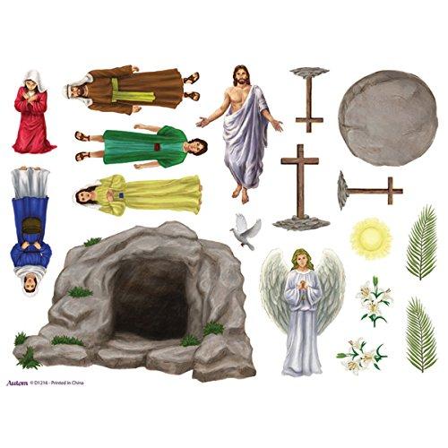 Resurrection of Jesus Christ Sunday School Easter Magnet Set, Pack of 12 ()