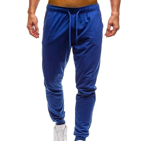 JiaMeng Pantalones de hombre Pantalones Chandal Hombre, Invierno de Bolsillo de Color Puro Pantalón Casual de Trabajo Deportivo Deportivo Pantalón Casual: ...