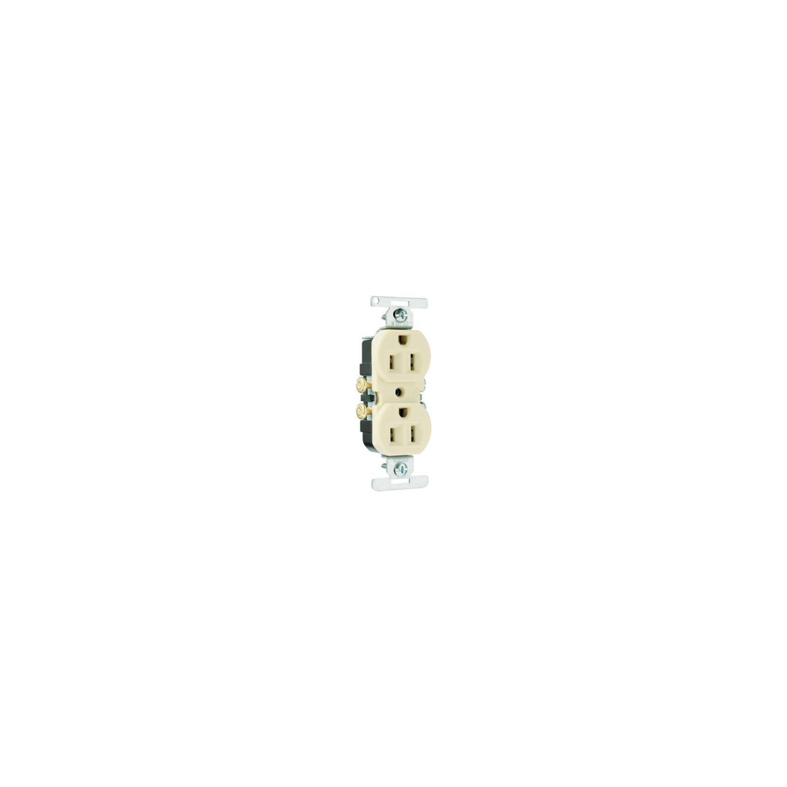 Pass & Seymour 3232ICACC20 Duplex Outlet, Copper/Aluminum, 2-Pole, 3-Wire Ground, Ivory, 15-Amp, 125-Volt - Quantity 20