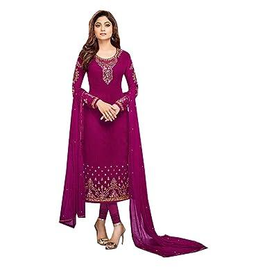 46c82d95b6 Amazon.com: Festival Designer Indian Muslim Straight Suit Salwar Kameez  Churidar Party Ceremony Wedding 7112: Clothing