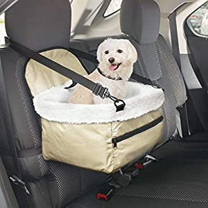 Imperial Home Pet Booster Seat for Car - Pet Bucket Seat Booster - Puppy Car Seat - Small Dog Car Seat 65