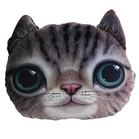 Cojin en forma de cara de gato terraza caravana salon cocina dormitorios ..perfectos cobinando varios modelos..de OPEN BUY: Amazon.es: Hogar