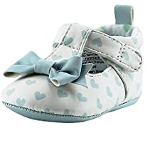 Rosie Pope Love hearts Baby Girls Mary Jane T-Strap Shoes Infant Crib Shoes Baby Shoes White Blue