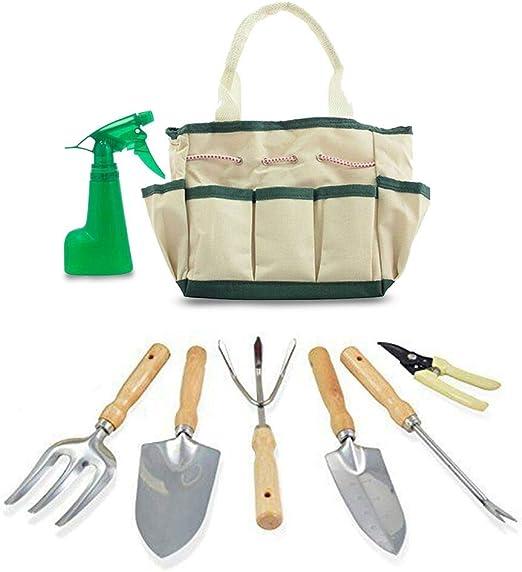 GardenHOME 7 piezas de herramientas de jardín de acero inoxidable ...
