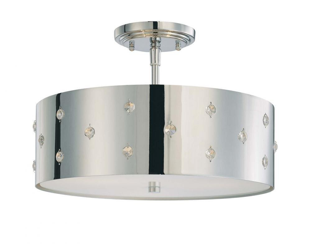 George kovacs p035 077 bling bling 3 light semi flush mount george kovacs p035 077 bling bling 3 light semi flush mount chrome ceiling pendant fixtures amazon arubaitofo Images