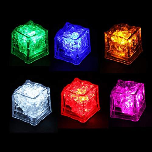 Lited Ice Cube - Ireav 6Pcs Simulation Luminous LED Ice
