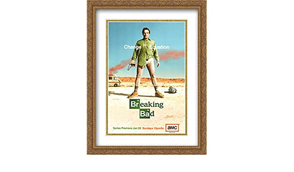 Amazon.com: Breaking Bad 28x36 Double Matted Large Gold Ornate ...