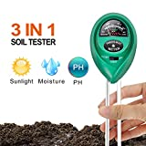 iPower LGTESTSOIL 3 in 1 Soil Meter, 3in1