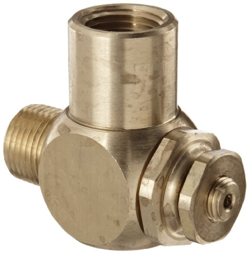 Parker 032510500 3251 Series Brass Right Angle Flow Control Valves, 1/2