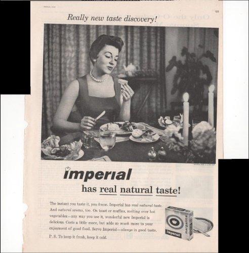 Imperial Margarine Has Real Natural Taste Breakfast 1957 Antique Advertisement