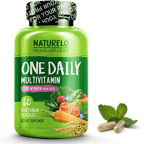 NATURELO One Daily Multivitamin for Women - IRON FREE – Natural Menopause Support - Best for Women Over 40 - Whole Food Supplement - Non-GMO - No Soy - 60 Capsules | 2 Month (Senior Daily Vitamin Supplement)