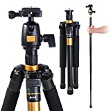 "AW Pro 60"" Adjustable Tripod Monopod w/ Ball Head For DSLR Camera Travel Aluminum 22lbs Capacity"