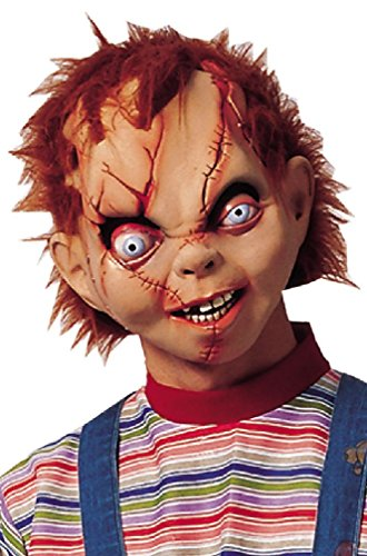 [8eighteen Horror Movie Chucky Character Mask Costume Accessory] (Pharaoh Adult Mens Plus Size Costumes)