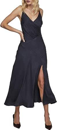 ASTR the label Womens ACDR100411 Bastille Sleeveless A-line Midi Slip Dress Sleeveless Dress