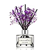 Cocod'or Preserved Real Flower Diffuser/French Lavender/6.7oz/Diffuser Oil & Sticks Set/Fragrance for Home Office Aromatherapy and Gifts