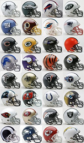 All 32 NFL Teams Mini Helmets w/Z2B Mask by Riddell by Riddell