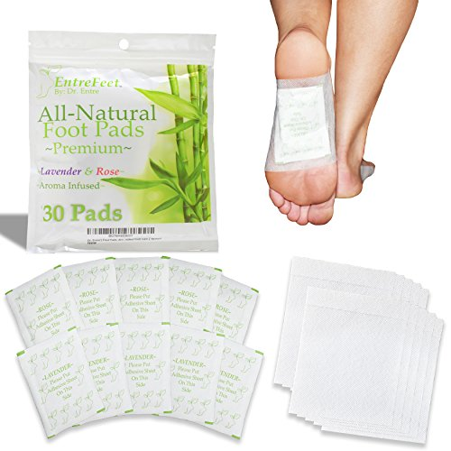 Dr. Entre's Foot Pads: Mother Nature's Best For Pain Relief, Deep Sleep Aid, Odor Eliminator, & More | Full Body Cleanse Patch | Easy & Effective Plant Based Foot Care | Convenient Packaging |30 Pack