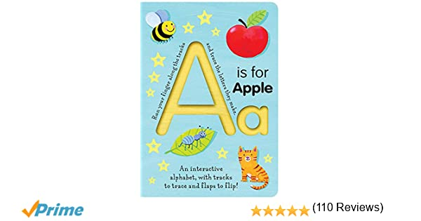 Amazon.com: A Is for Apple (Trace-and-Flip Fun!) (Smart Kids Trace ...
