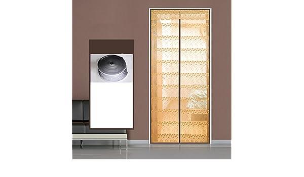 MIDIYA Cifrar Mute Mosquitera Magnética para Puertas, Anti Mosquito Puerta Ciega para Inicio Dormitorio Sala De Estar Jardín con Respaldo-marróna 80x200cm(31x79inch): Amazon.es: Hogar
