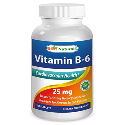 Best Naturals Vitamin B-6 25 Mg Tablets, 250 Count