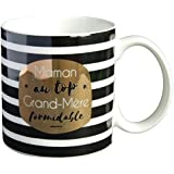 LA CARTERIE Mug Cadeau à Message Maman au Top, Grand-Mère Formidable