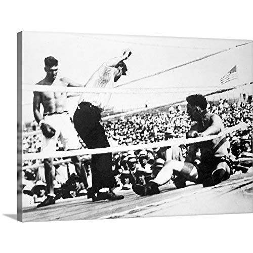 GREATBIGCANVAS Gallery-Wrapped Canvas Entitled Jack Dempsey (1895-1983), American Boxer by - Heavyweight Ohio Gloves