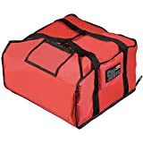 Rubbermaid ProServe Red Nylon Medium Pizza Delivery Bag - 18'' L x 17 1/4 W x 7 3/4 H