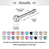 Zolure Surgical Steel Nose Pin Bone Studs 18