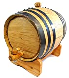 Premium Charred American Oak Aging Barrel - No Engraving (3 Liter)