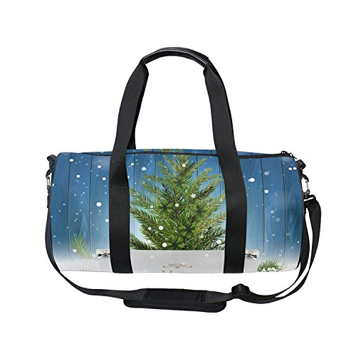 New Year Christmas Tree Ball Snowflake Sports Shoulder Handy Duffel Bag by KMAND