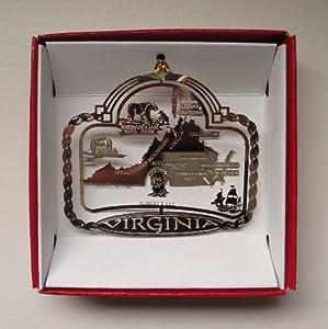 Amazon.com: Virginia State Brass Christmas ORNAMENT Souvenir Gift ...