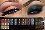 Eye Shadow Makeup Cosmetic 12 Color Shimmer Matte Eyeshadow Palette and Brush (#0 Chrome Eye Shadow)