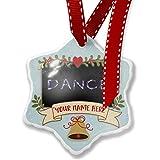Add Your Own Custom Name, Dance Neon Light Graffiti Christmas Ornament NEONBLOND