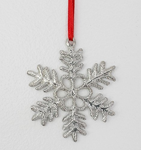 (689 Snowflake Winter Ornament Pewter)