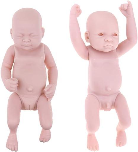 Newborn Baby Girl Doll Unpainted Blank Reborn Kits Full Body Soft Vinyl Silicone