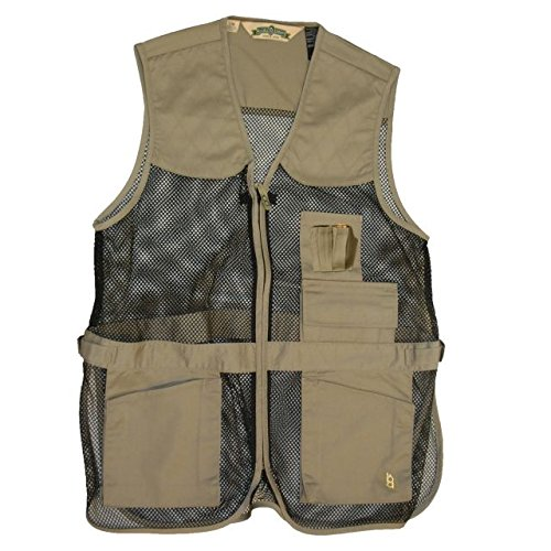 Bob Allen 240 MG Full Mesh Shooting Vest, Tan, S/M, 10054
