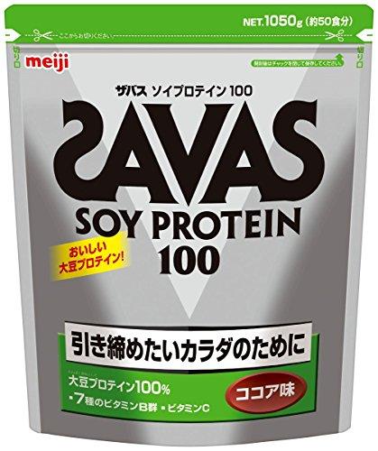 SAVAS 소이 프로테인 100 코코아맛 [50인분] 1,050g