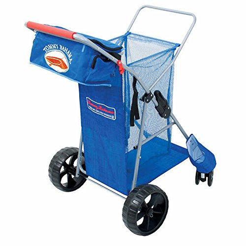 Extra Cart - Tommy Bahama 2016 All Terrain Beach Cart Includes Cargo Bag With Extra Wide Rear Wheels