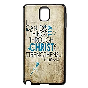 Custom Snap On Hard Case for Samsung Galaxy Note 3 N9000 Plastic Protective Case Cover with Bible Verse -Black20712