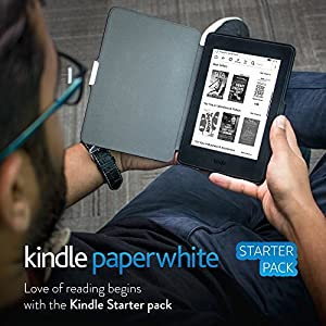 Kindle Starter Pack with Kindle Paperwhite WiFi E-Reader - Black (MRP Rs 10,999), NuPro SlimFit Cover for Kindle Paperwhite (MRP Rs 1,299)