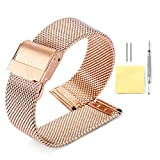Milanese Mesh Watch Band 4 Color(Gold,Sliver,Black,Rose Gold) 12 Size(10mm,12mm,13mm,14mm,15mm,16mm,17mm,18mm,19mm,20mm,21mm,22mm)