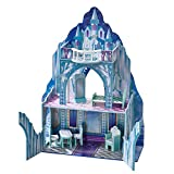Image of Teamson Kids - Ice Castle Wooden Doll House with 6 pcs Furniture for 12 inch Dolls