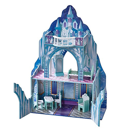 (Teamson Kids - Ice Castle Wooden Dollhouse with 6 pcs Furniture for 12