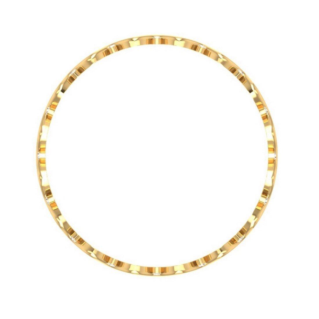 14K Yellow Gold bangle-bracelets Size HallMarked IJ| SI 9.75 inches 1.25 cttw Round-Cut-Diamond