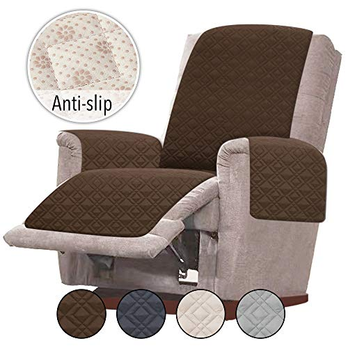 Rose Home Fashion RHF Anti-Slip Oversized Recliner Cover for Leather Sofa  Oversized Recliner Covers, Slipcovers for Recliner, Recliner Covers, Recliner Chair Covers(Recliner-Oversized:Chocolate)
